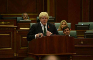 During his visit the Foreign Secretary, Boris Johnson, addressed the Assembly of Kosovo.