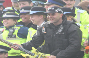 PC Tom Davies takes part in filming the Video for Horizon on my mind