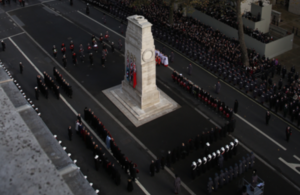 Remembrance Sunday Service. The Cenotaph, London.