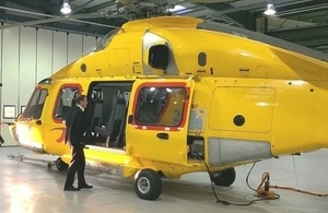 Industry and Energy Minister Jesse Norman during his visit to NHV helicopters in Aberdeen