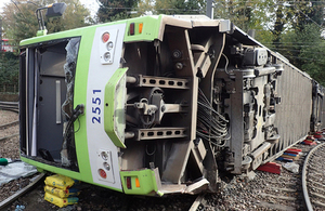 Image of derailed tram at Sandilands Junction