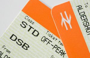 Rail tickets.