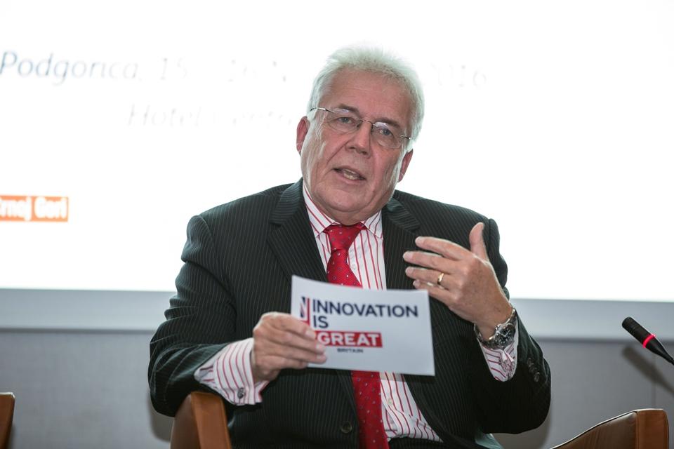 "Ambassador Whitting speaking at ""Innovation Reshaping Montenegro"" conference"