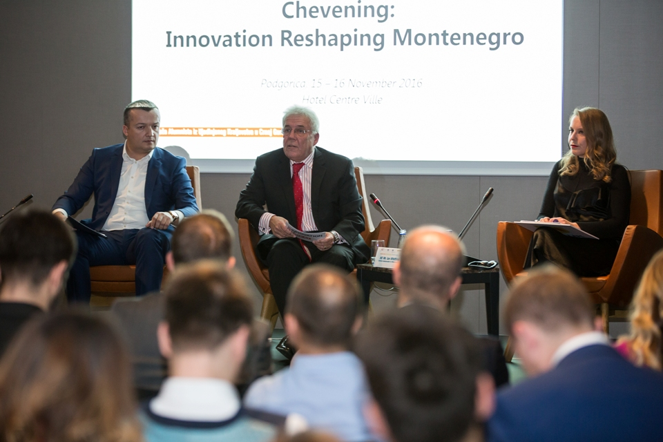 "Ambassador Whitting at opening of ""Innovation Reshaping Montenegro"" conference"