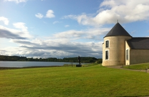 The Summit venue at Lough Erne, Northern Ireland.
