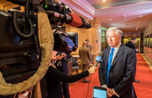 Defence Secretary Sir Michael Fallon in Halifax for the International Security Forum.