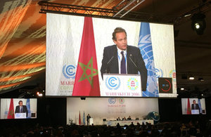 Nick Hurd speaking at COP22