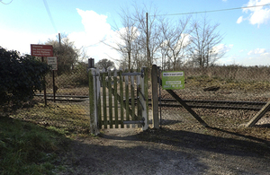 Image showing Grimston Lane level crossing