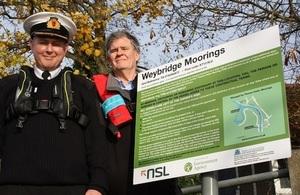 Signage installed at Weybridge moorings