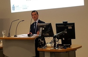Alun Cairns speaking at the Cardiff Met Annual Lecture