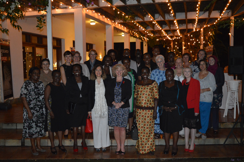 HE Alison Blackburne with women leaders at the networking event to mark the Foreign and Commonwealth Office's (FCO's) 2016 Week of Women
