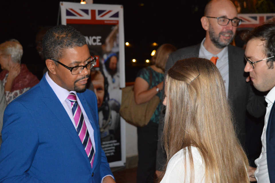 Vaughan Gething AM at a reception hosted by British High Commissioner Alison Blackburne