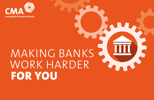 Written message: 'Making banks work harder for you'.