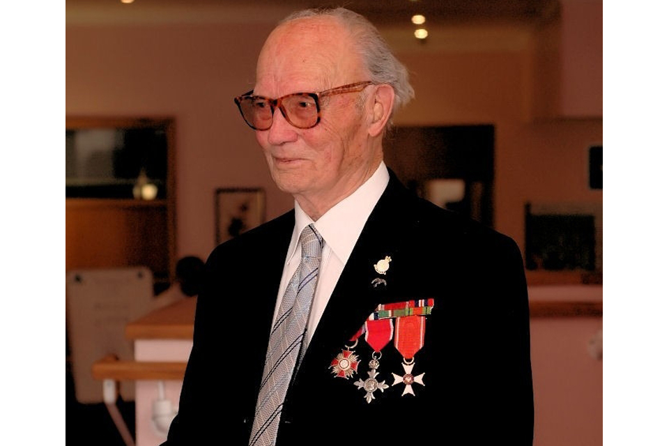 Mieczyslaw Juny wearing his medals