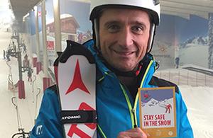 #SkiSafe campaign ambassador Graham Bell