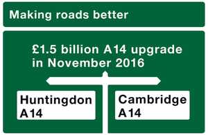 £1.5 billion A14 upgrade.