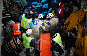 The UK has committed £32m to supporting Syria Civil Defence. (Photo: Syria Civil Defence)