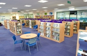 Interior view of Crayford Library in Bexley