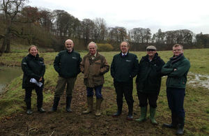 Environment Agency Chief Executive Sir James Bevan praised habitat improvement works near Grantham when he visited last week
