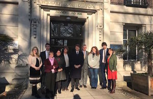 Government Minister Robin Walker on a visit to the Zoological Society of London