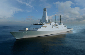 Computer generated image of Type 26 Global Combat Ship