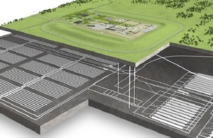 Artist's impression of a geological disposal facility