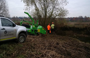 Environment Agency officers carrying out maintenance work