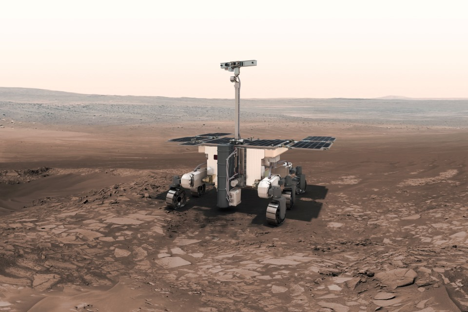 Artist's impression of ExoMars rover.