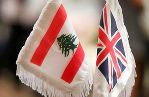 UK-Lebanon flags