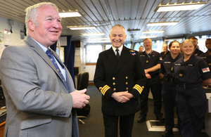 UK Armed Forces Minister Mike Penning tod has praised the Royal Navy vessel for her contribution to Operation Sophia