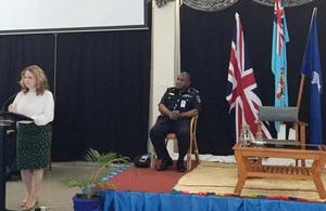 High Commissioner Melanie Hopkins delivering the keynote address
