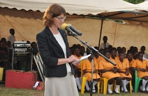 DFID Head of Office Jennie Barugh