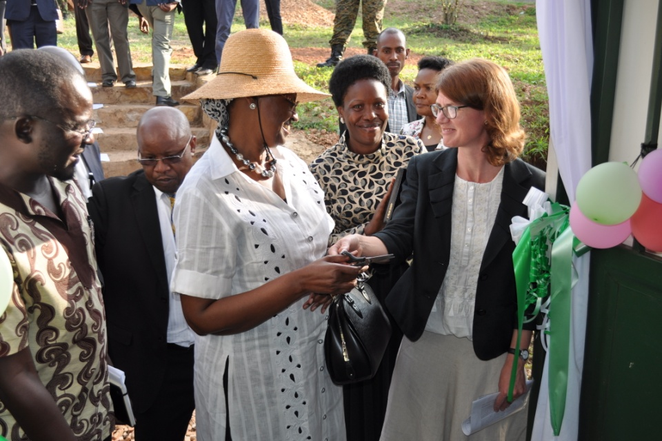 Jennie Barugh and Janet Museveni