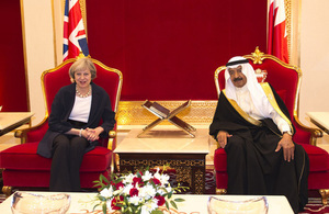 Prime Minister Theresa May with the Prime Minister of Bahrain