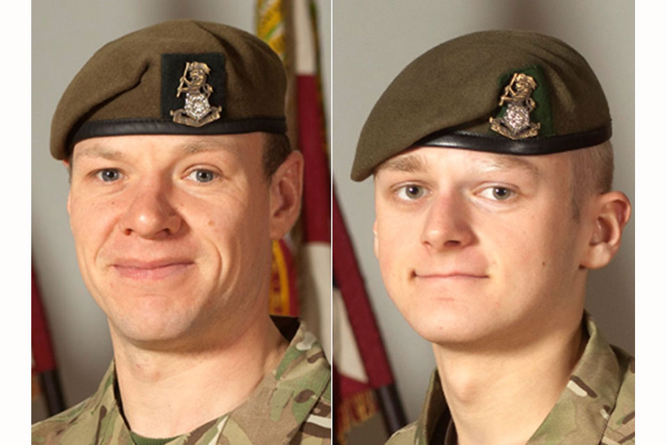 Sergeant Gareth Thursby (left) and Private Thomas James Wroe (All rights reserved.)