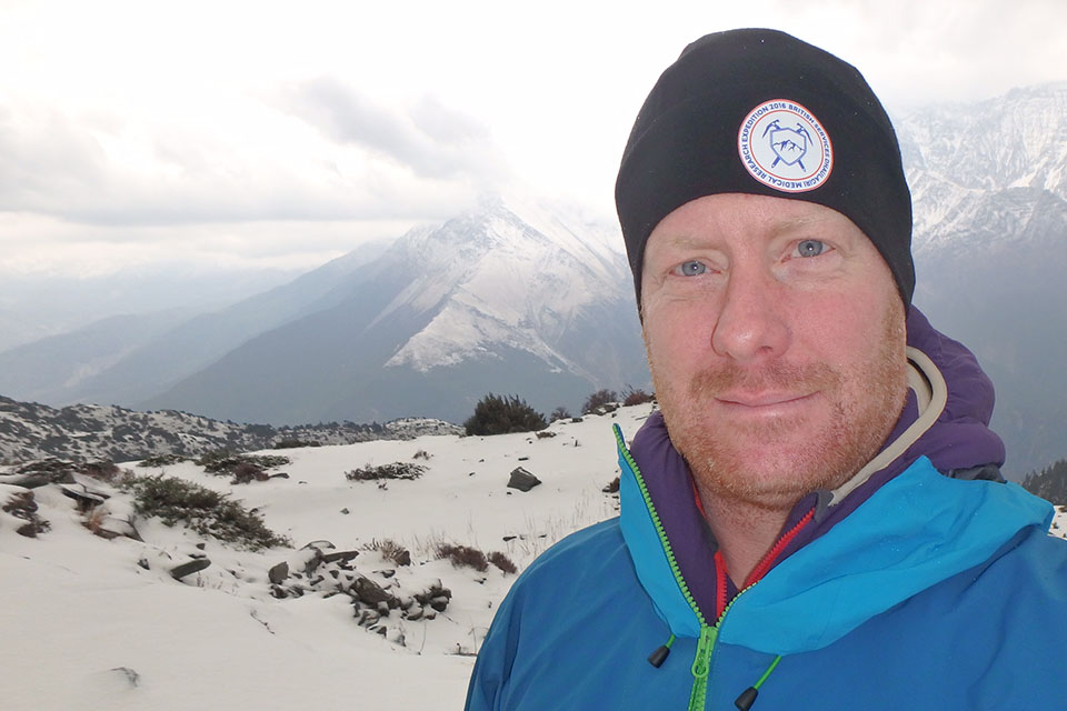 Sqn Ldr Dan Graves, part of the the team which trekked Nepal's famous Dhaulagiri circuit.