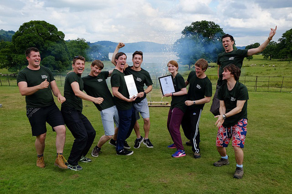 Apprentices from the UK Atomic Energy Authority were named apprentice team of the year 2016 at Brathay Trust's Windermere headquarters in June.