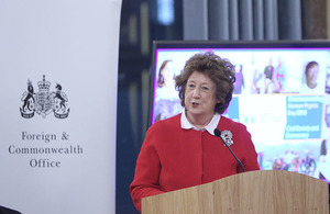 Baroness Anelay speaks at the FCO's Human Rights Day event