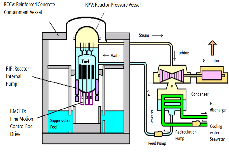 Figure 1. A simplified illustration of the Advanced Boiling Water Reactor