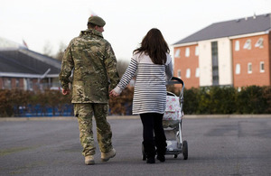 Members of the Armed Forces redeployed within the UK will be able to rent out their homes without facing higher costs or having to change their mortgage. Crown copyright.