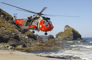 Sea King helicopter [Picture: Crown Copyright/MOD]