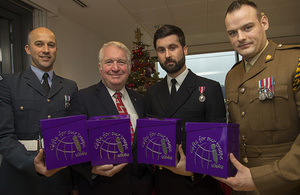Minister of State for the Armed Forces Mike Penning helped launch the campaign with Service personnel today.