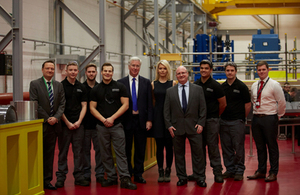 Defence Secretary Michael Fallon has opened a state of the art facility in Huddersfield today (9 December 2016) Crown Copyright