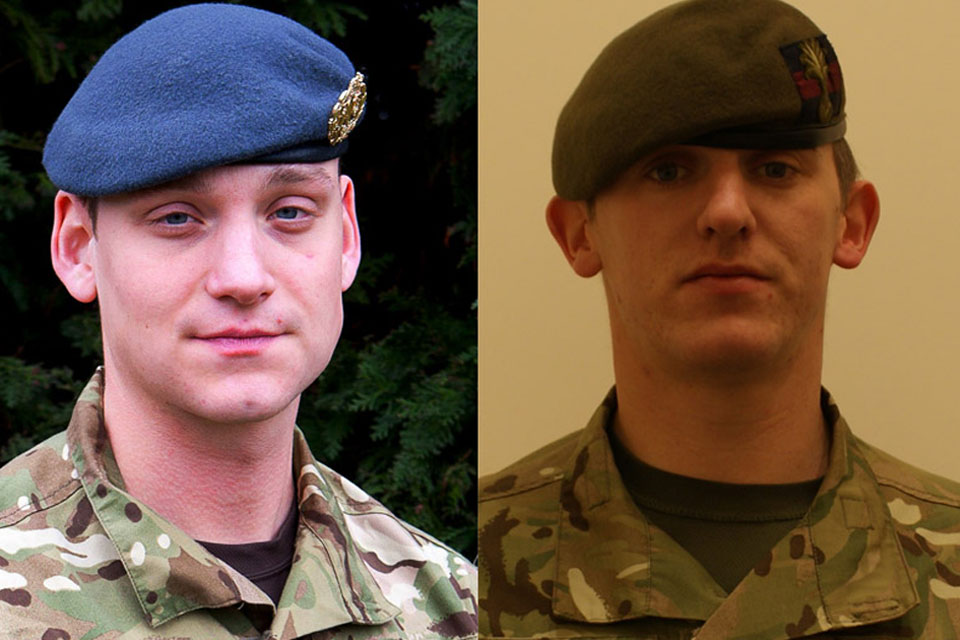 Corporal Brent John McCarthy, Royal Air Force, and Lance Corporal Lee Thomas Davies (All rights reserved.)
