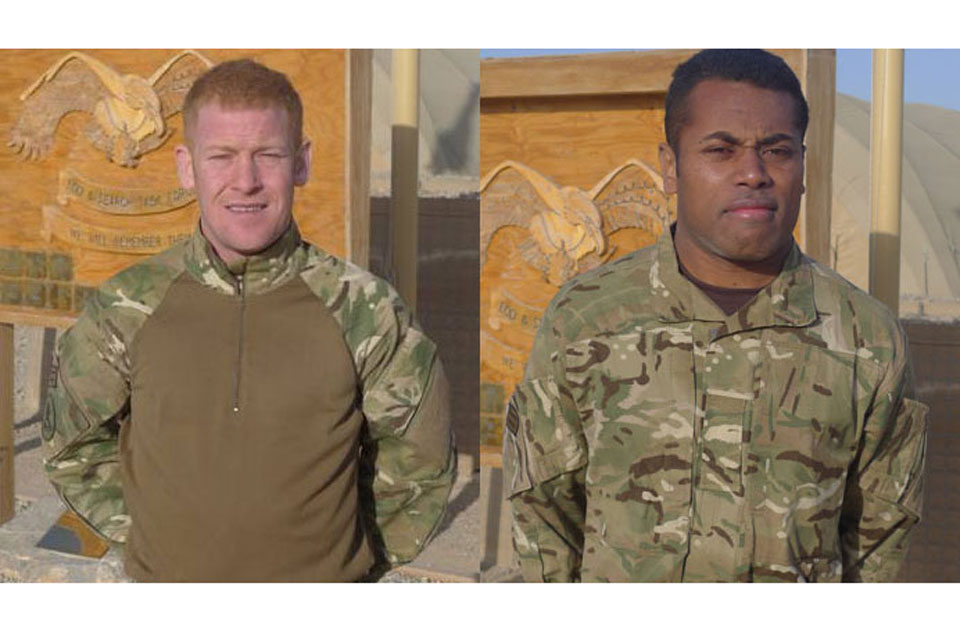 Corporal Andrew Roberts and Private Ratu Silibaravi (All rights reserved.)