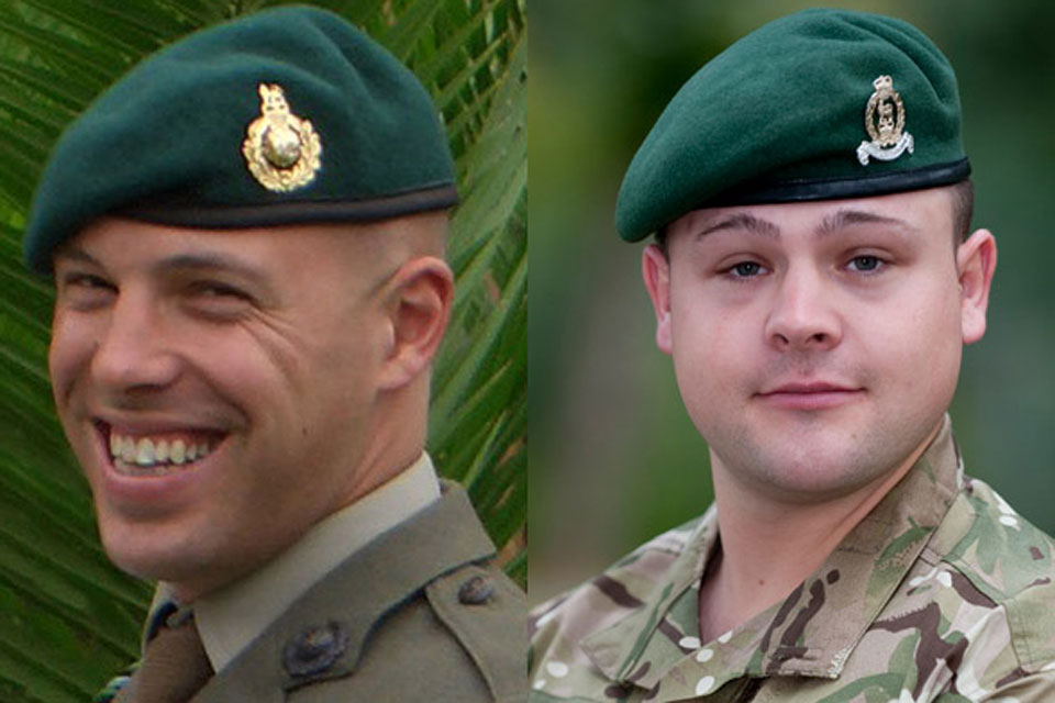 Sergeant Luke Taylor and Lance Corporal Michael Foley (All rights reserved.)