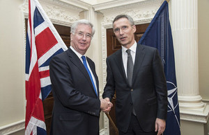 UK Defence Secretary, Michael Fallon, with NATO Secretary General, Jens Stoltenberg
