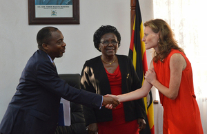 Deputy High Commissioner Mary Shockledge with Uganda AG and Works Minister