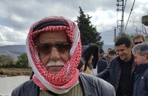 Local Lebanese farmer in Wadi Khaled