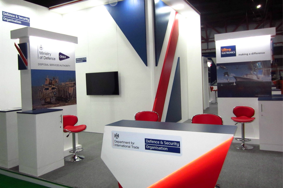 DIT DSO exhibition stand